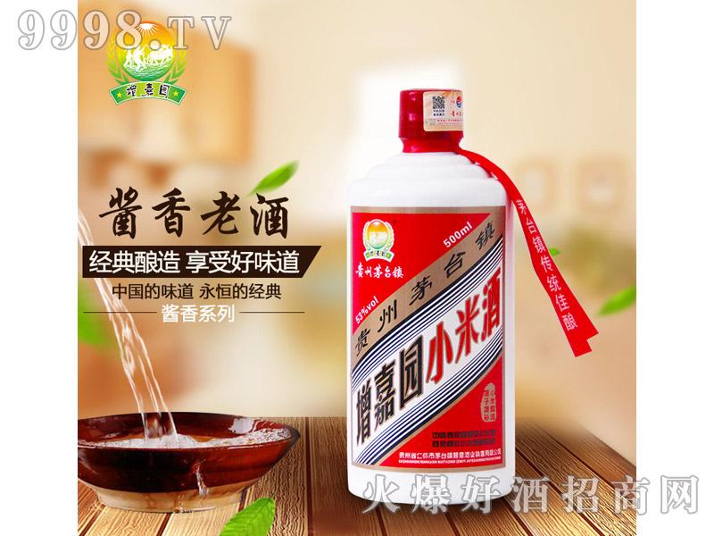 增嘉园酱香小米酒53°500ml酱香型白酒