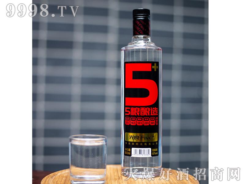 光良Five+光瓶酒45度浓香型白酒自饮粮食酒300ml
