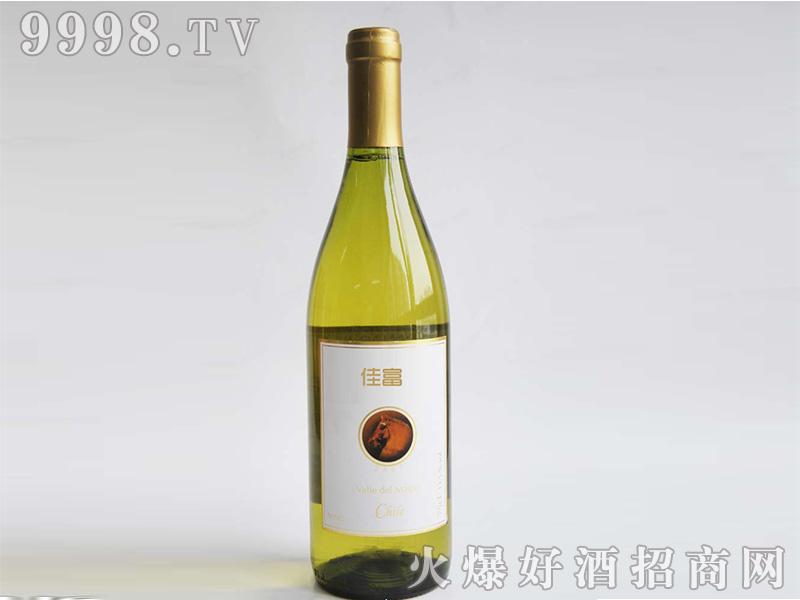 洛阳佳富干白葡萄酒金盖750ml