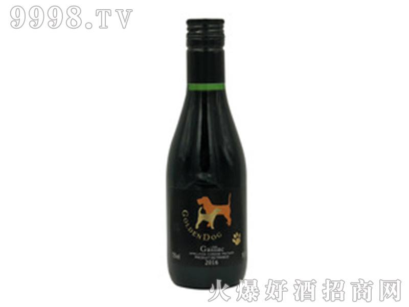 法国原装进口狗年红酒红葡萄酒6瓶装187ml小瓶装葡萄酒礼盒装