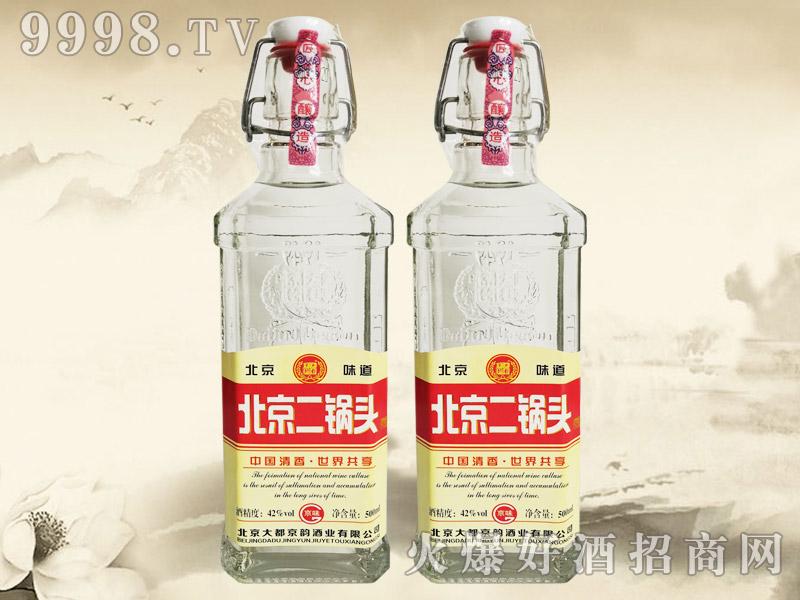 大都京韵北京二锅头酒京味红标42°500ml清香型白酒-白酒类信息
