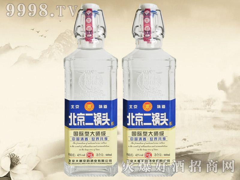 大都京韵北京二锅头酒国际型大师级蓝标42°660ml清香型白酒-白酒类信息