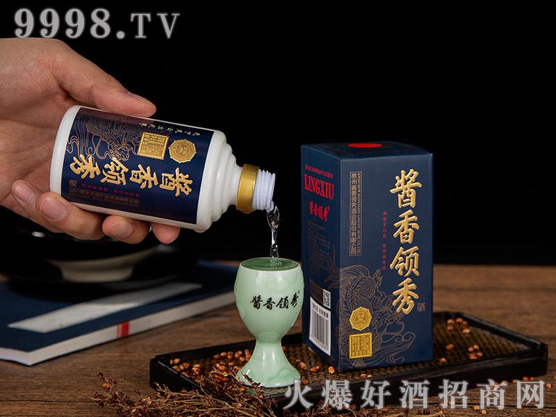 酱香领秀小酒53°100ML-黑蓝色-白酒招商信息