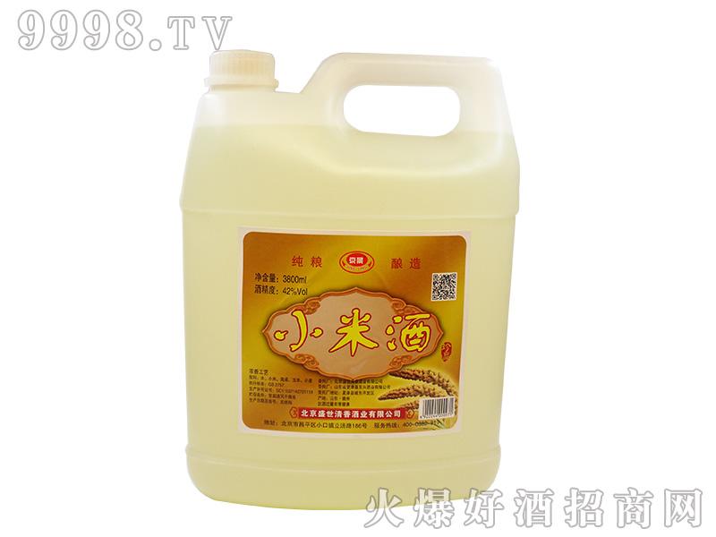 京景小米酒42°3800ml浓香型白酒