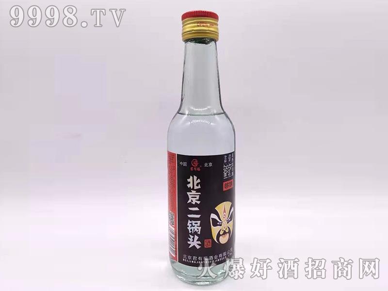 君有福北京二锅头酒够味42度250ml浓香型白酒
