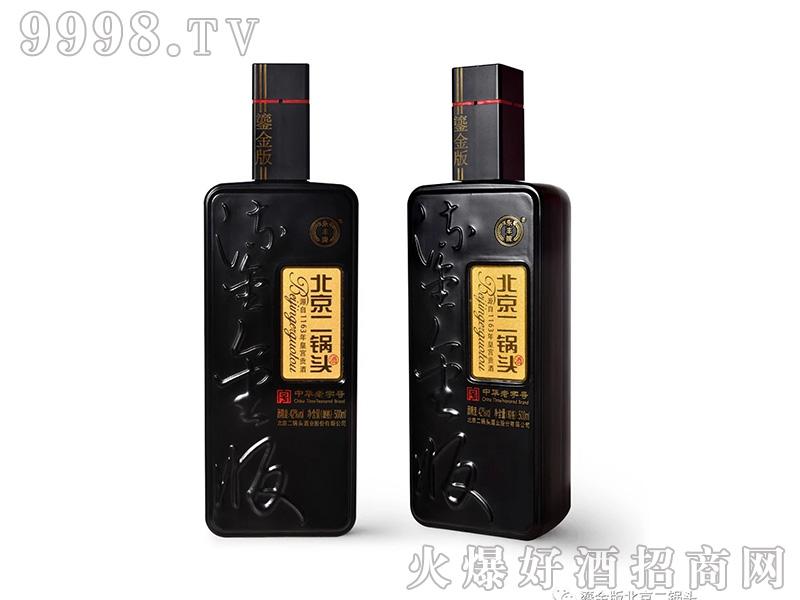 北京二锅头酒鎏金版黑豹42度500ml清香型