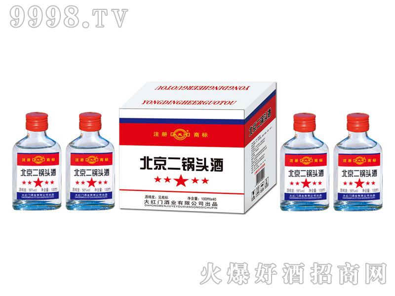 永定河北京二锅头酒56°100ml×40清香型白酒