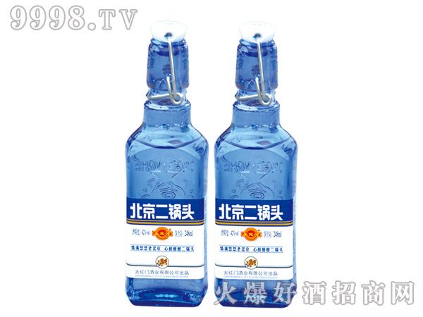 永定河北京二锅头酒蓝瓶42度248ml浓香型白酒