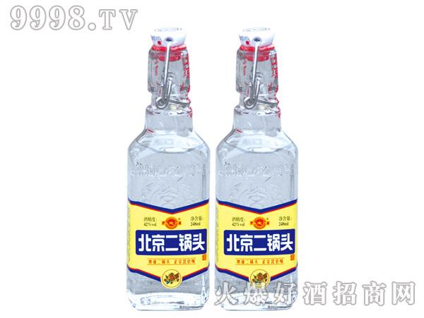 永定河北京二锅头酒42度248ml浓香型白酒