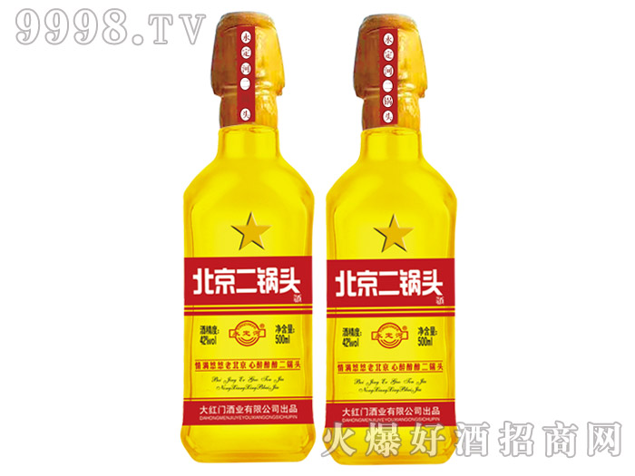 永定河北京二锅头酒金42°500ml浓香型白酒