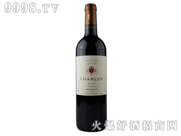 查尔斯庄园干红葡萄酒2018