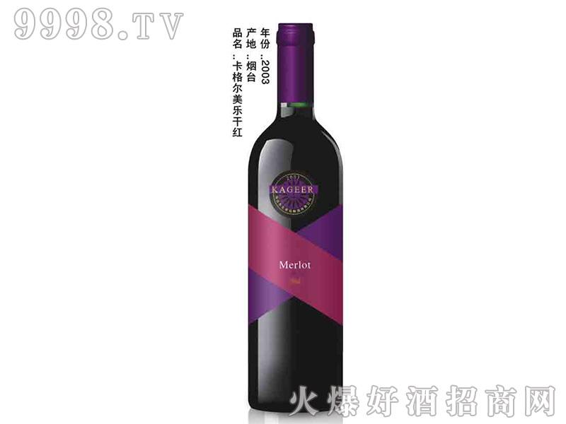 卡格尔美乐干红葡萄酒750ml2003