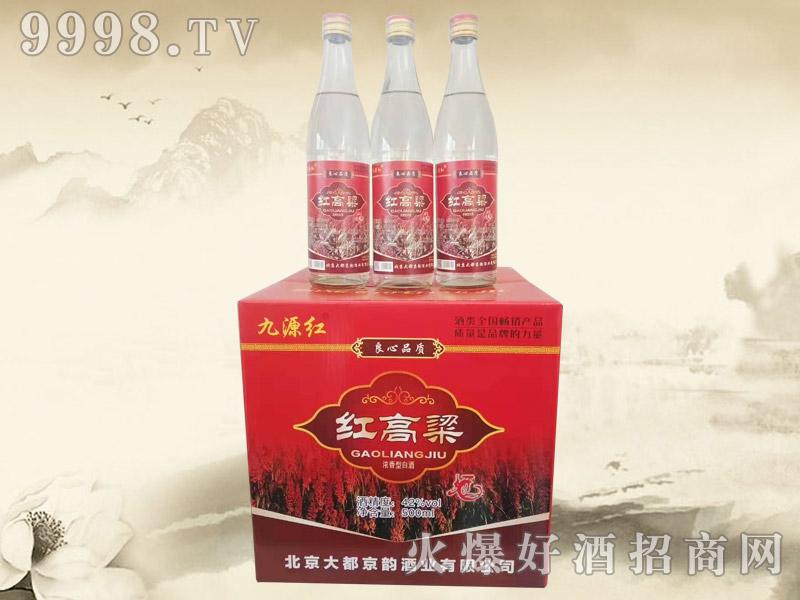 九源红红高粱酒42°500ml浓香型白酒