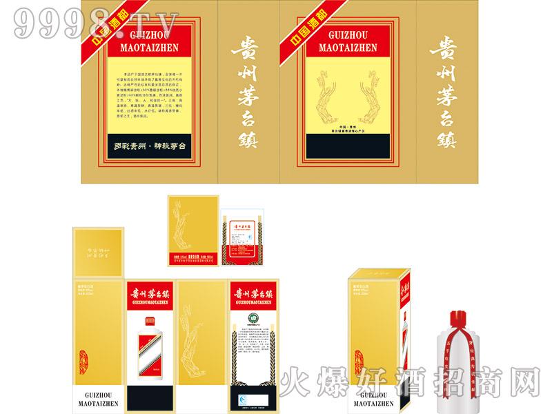 定制酒模板-卡盒金色烫金