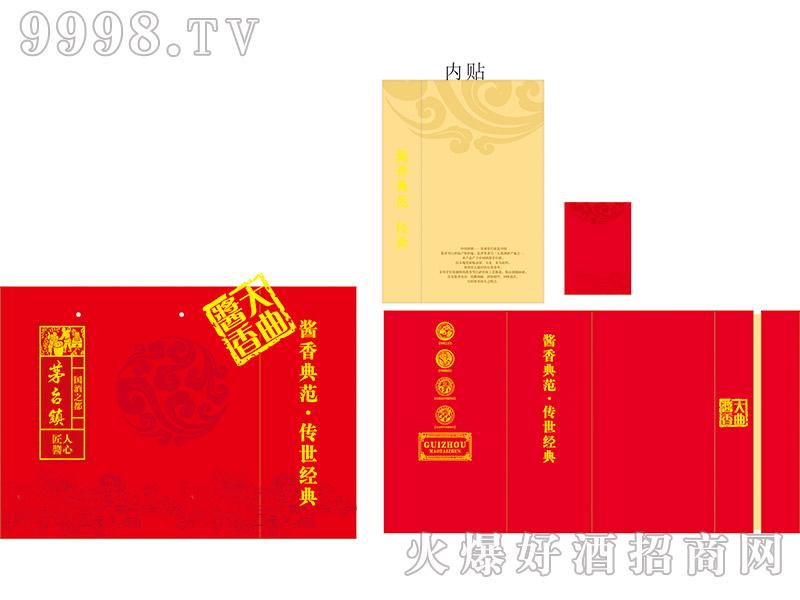 定制酒模板-红色手工模版无底纹