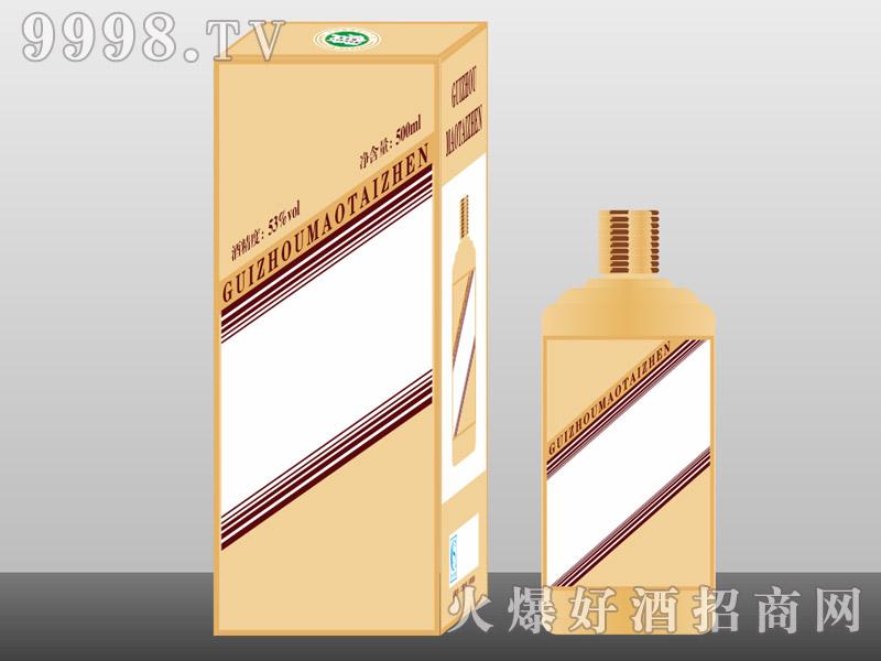 定制酒模板-手工盒生肖瓶金色