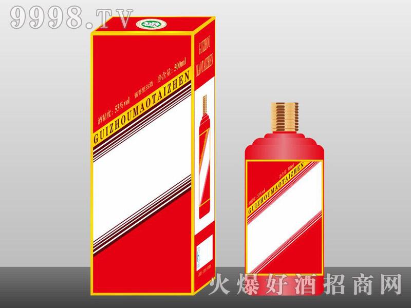 定制酒模板-手工盒生肖瓶红色