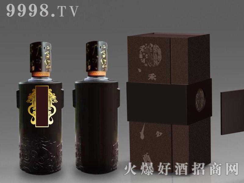 定制酒模板-手工盒龙瓶烤花