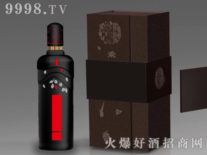 定制酒模板-手工盒烤花