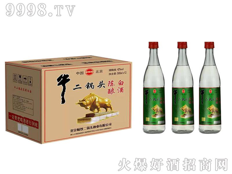 畅饮牛二锅头陈酿白酒500mlx12