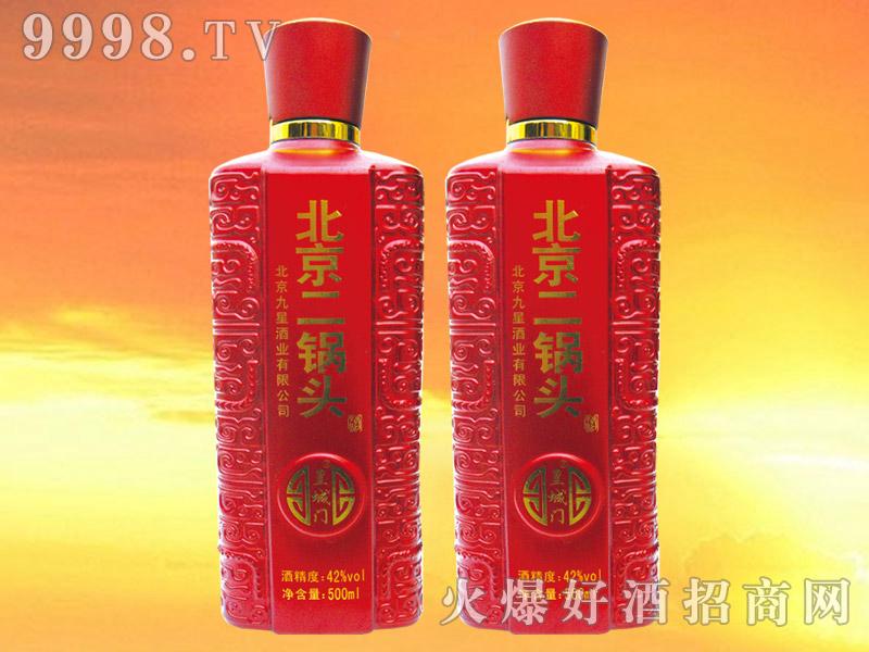 皇城门北京二锅头酒42°500ml×12(红瓶)