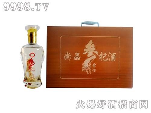 尚品参杞露酒木盒礼盒