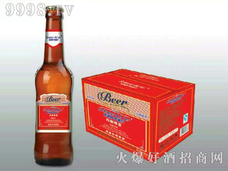 斯赫娜・阿德尔玛咖啤酒经典白啤原浆(红箱)