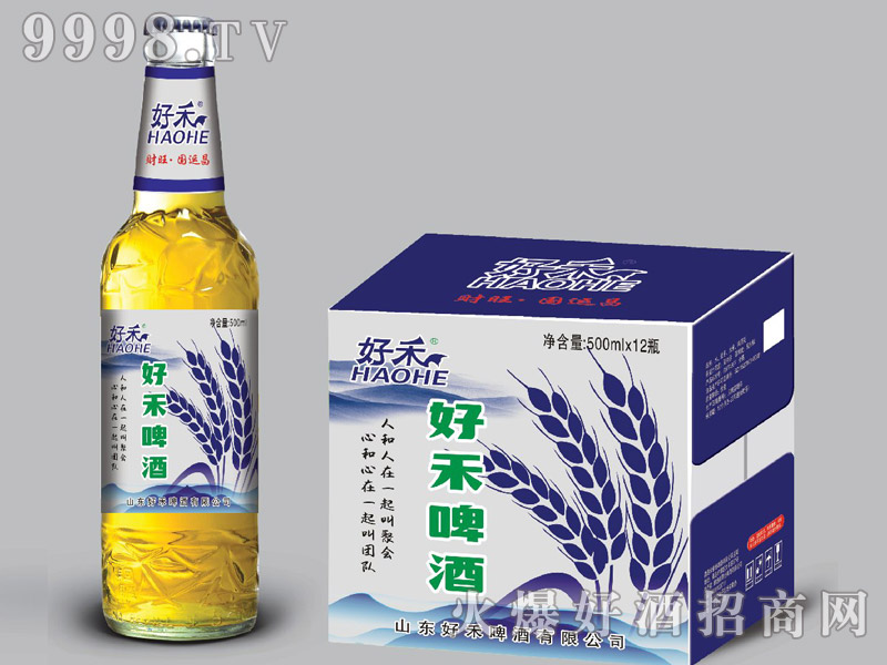 好禾啤酒500ml×12瓶(蓝)