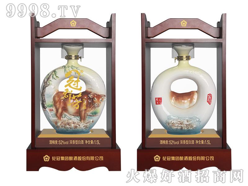 冠群芳十二生肖酒(牛)1500ml