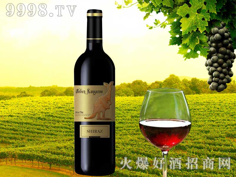 澳奔袋鼠西拉子干红葡萄酒