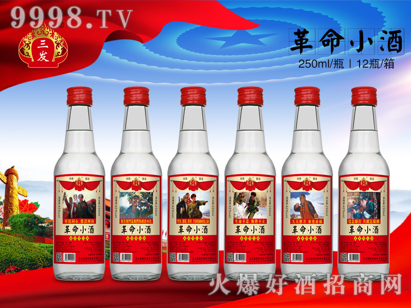 三发革命小酒42°250ml×12瓶