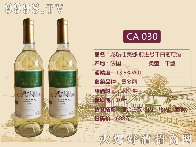 龙船佳美娜·前进号干红葡萄酒CA030