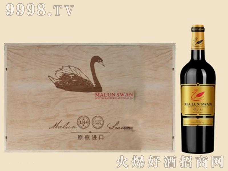 天鹅木箱葡萄酒1×6