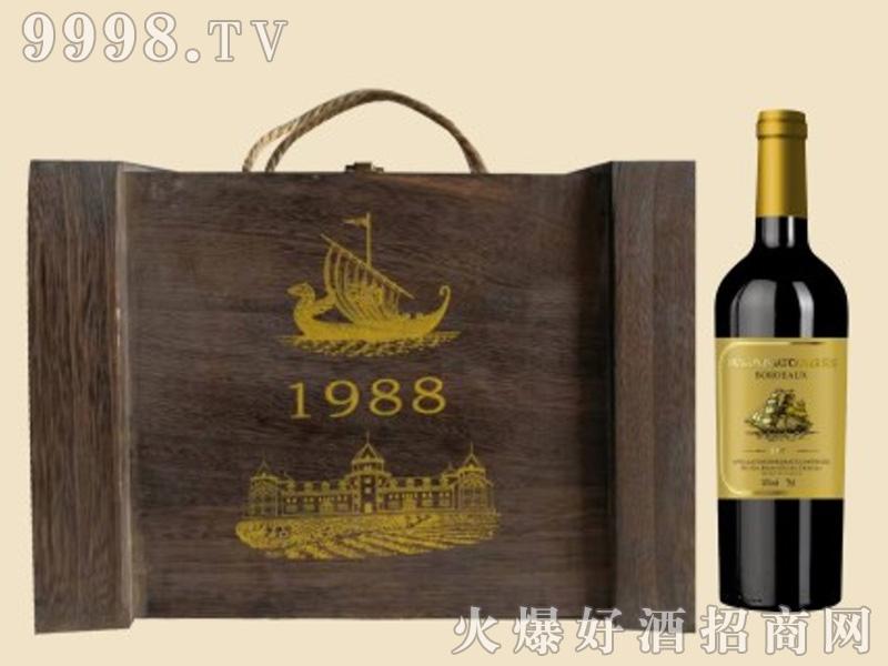 龙船木箱葡萄酒1998-1×6