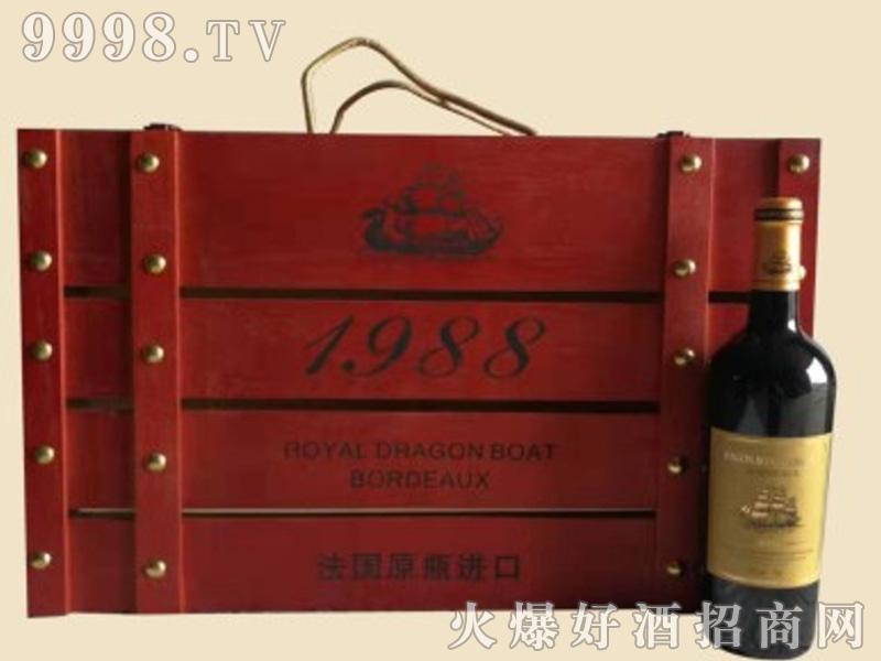龙船葡萄酒木箱1×6