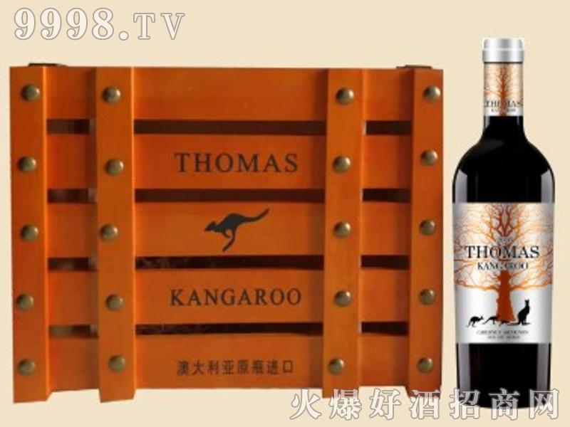 袋鼠木桶礼盒葡萄酒1×6