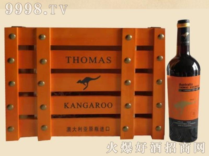 袋鼠木箱葡萄酒1×6