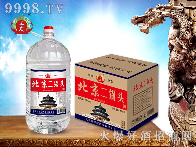 三发北京二锅头桶酒10L