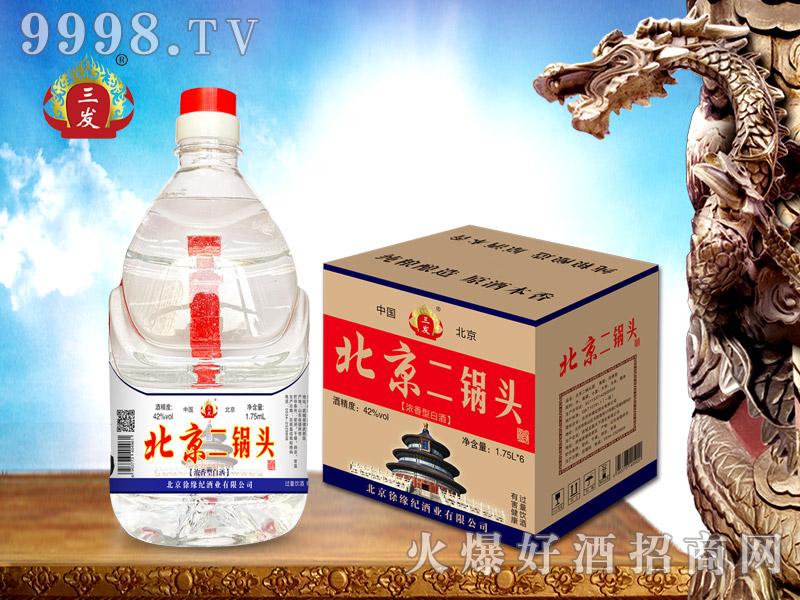 三发北京二锅头桶酒1.75L
