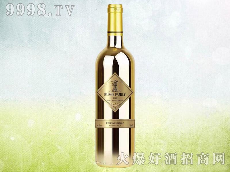 伯格家族金钻干红葡萄酒 澳大利亚原酒进口 16.5度750ml