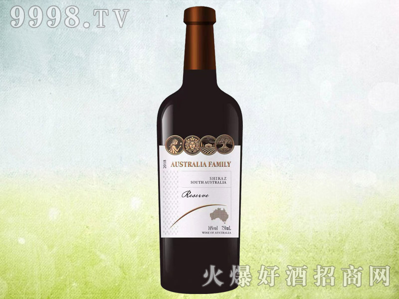 澳族酒庄珍藏级西拉干红葡萄酒 澳大利亚原酒进口 16度750ml
