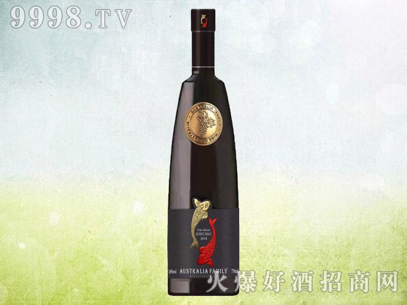 澳族酒庄鱼干红葡萄酒 澳大利亚原酒进口 16.5度750ml