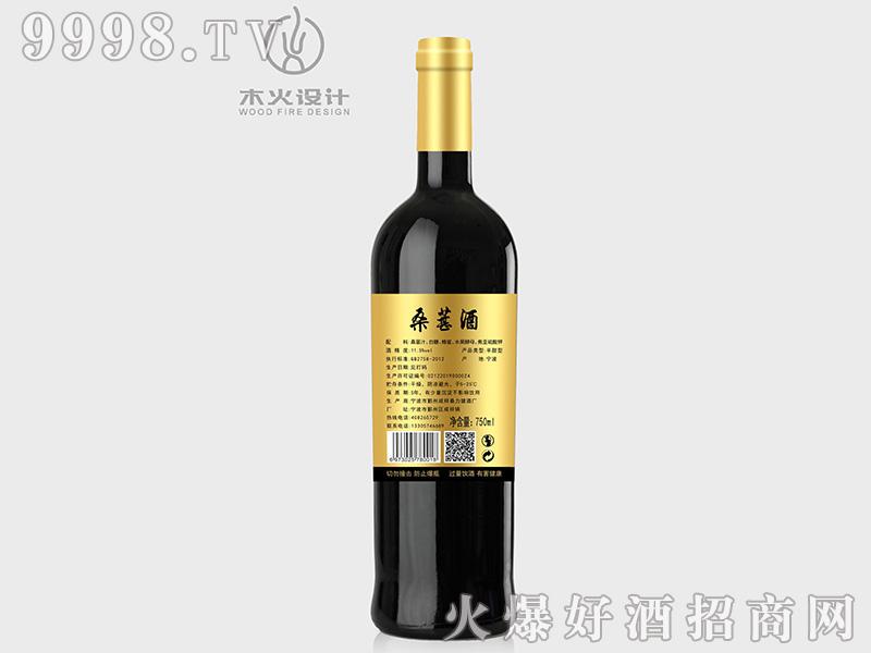迦六缸桑葚酒背面11.5°750ml-特殊招商信息
