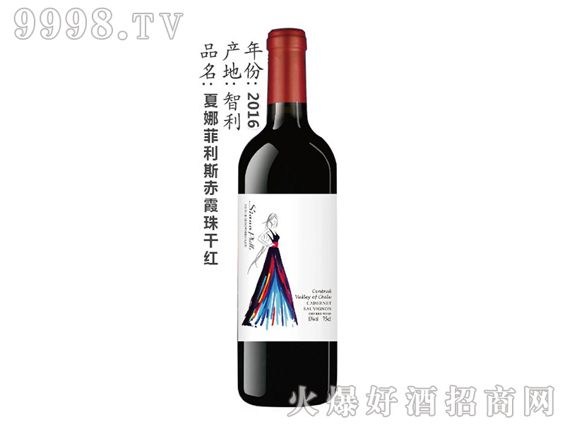 夏娜菲利斯赤霞珠干红葡萄酒750ml
