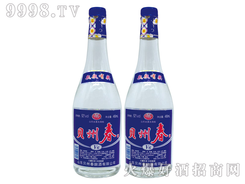 贝州春酒V6浓香型白酒【52°450ml】-白酒类信息