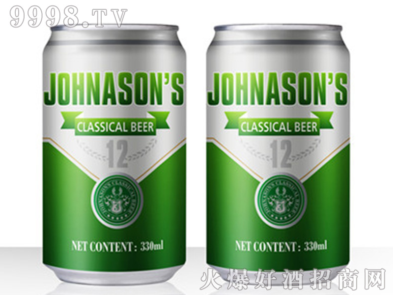 JOHNASONS BEER罐装【12度330ML】