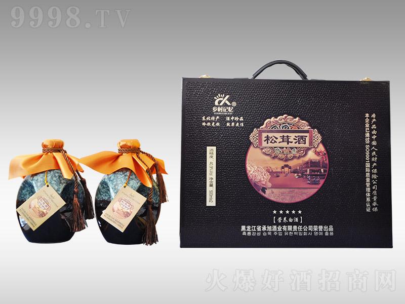 承旭乡村记忆五星松茸酒【40.9°500ml】-保健酒类信息