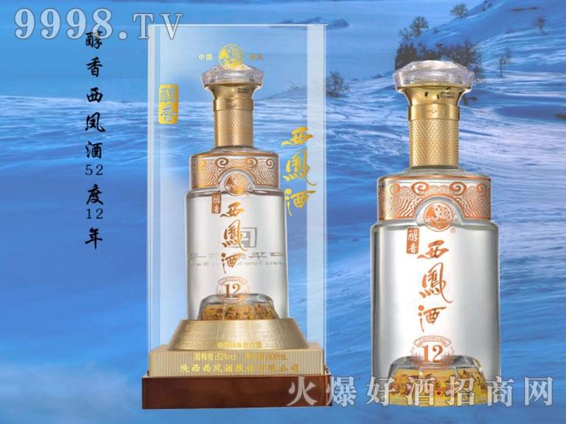 醇香西凤酒12 52°500ml绵柔凤香型白酒