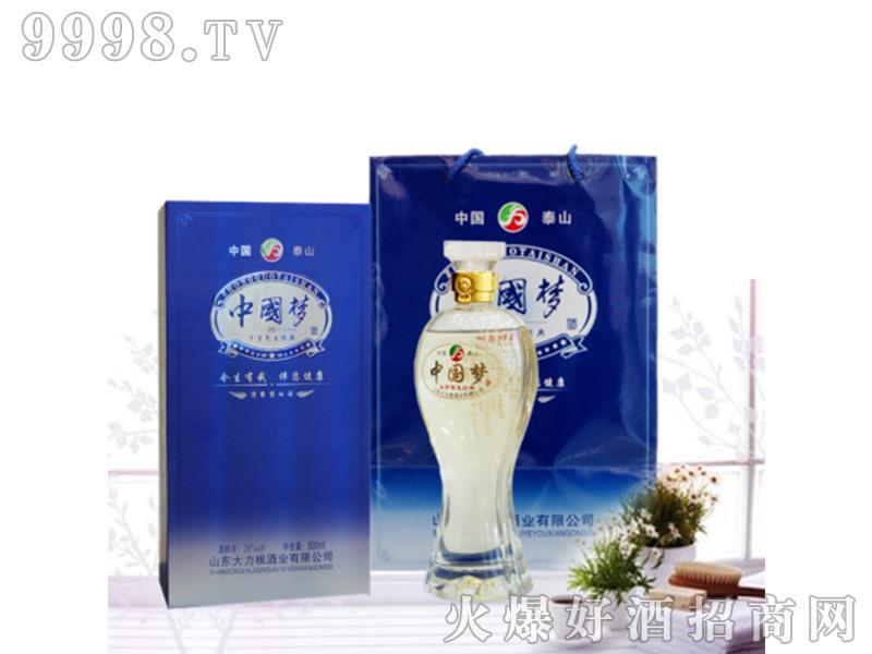 中国梦泰山牛蒡养生酒39°500ml清香型白酒