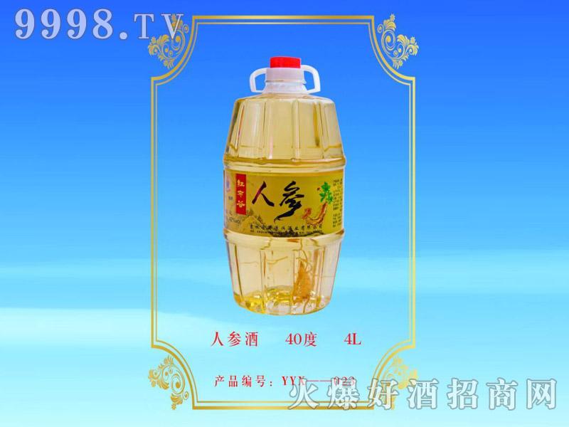 红布谷人参酒40°4L浓香型白酒